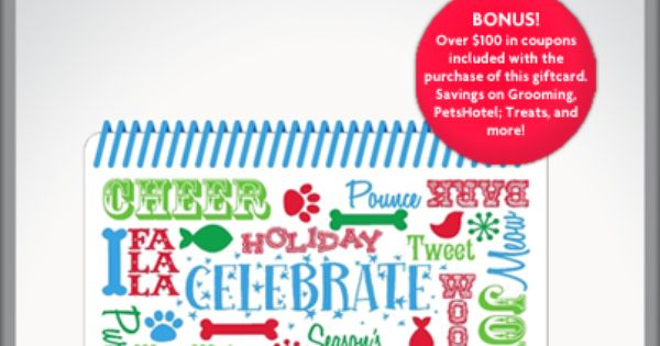 2 Top Fan Voted Gift Of 2013 Is The Petsmart Coupon Book Gift Card Petsmart Pet Holiday Coupon Book