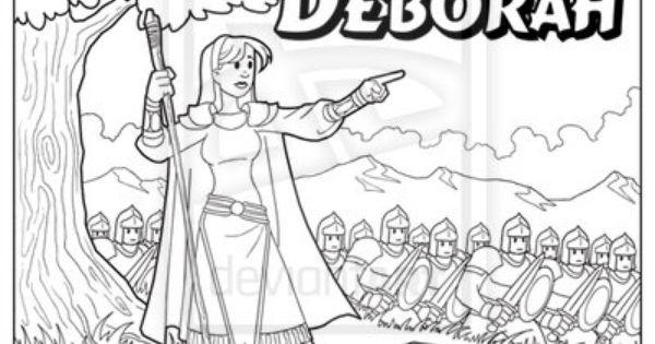 deborah judges 4 coloring pages - photo #22