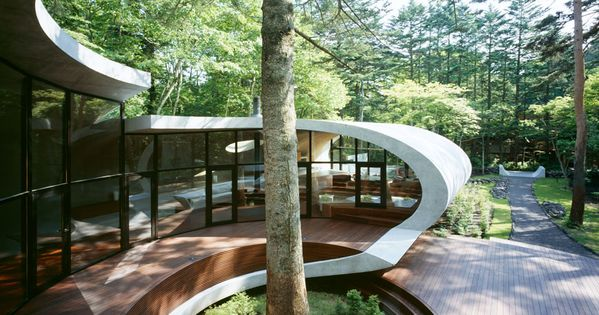 shell house by kotaro ide 4 Shell House in the Japanese Forests