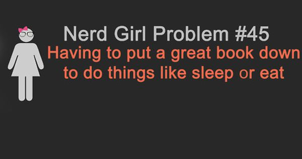 Books. nerd girl problem 45