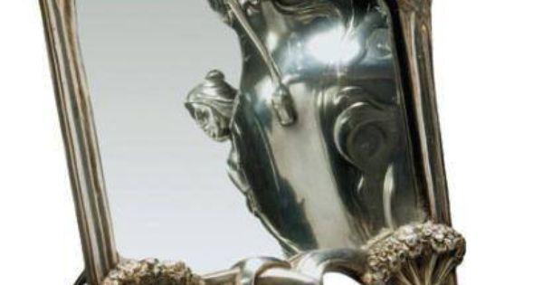 Art nouveau miroir ombelles auguste moreau art for Miroir art nouveau