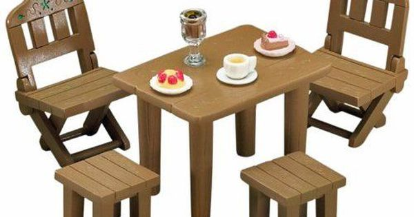 Calico Critters Sylvanian Families Patio Furniture Set Flair Patio Furniture Sets Outdoor Furniture Sets Furniture