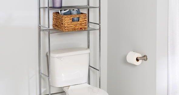 3 Tier Over The Toilet Shelving Unit Chrome Toilet Storage Toilet Shelves Small Apartment Hacks
