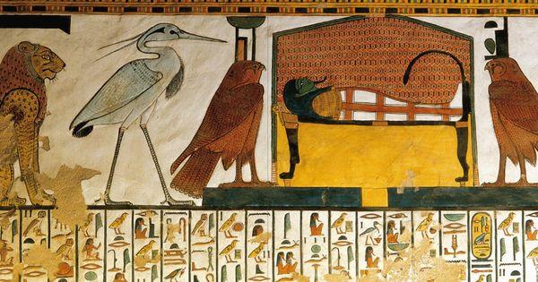 fresque de la tombe de n fertari la momie de n fertari sur son lit fun raire elle porte le. Black Bedroom Furniture Sets. Home Design Ideas