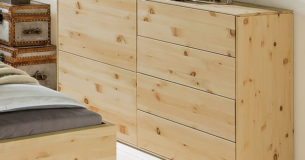 Eine formsch ne kommode aus dem schlafzimmer programm for Kommode zirbenholz