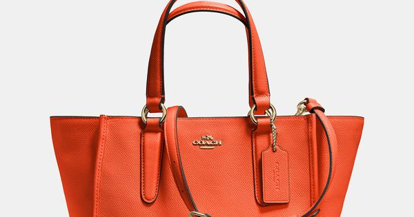 Crosby Mini Carryall in Crossgrain Leather cheap coach handbags