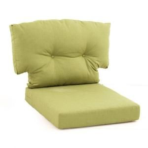 Hampton Bay Green Bean 2 Piece Replacement Cushion For The Martha