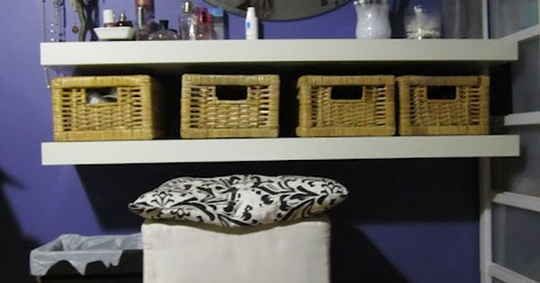 From IKEA Hacker - 2 shelves and some baskets are transformed into