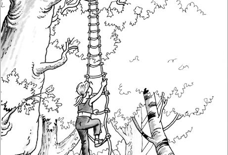 free magic treehouse coloring pages - photo#23