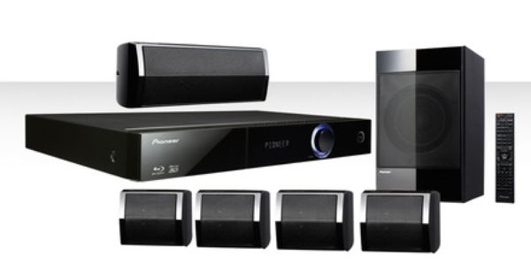 Pioneer Blu Ray Streaming 5 1 Home Theater System With Ipod Cradle Htz Bd32 Free Returns Home Theater System Home Theater Surround Sound