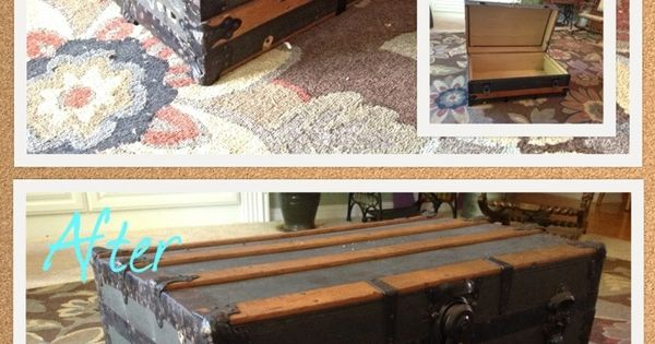 Diy Antique Trunk Coffee Table For The Home Pinterest Trunk Coffee Tables Coffee And