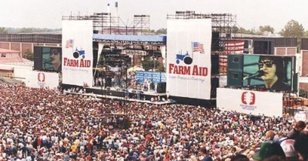 Today In 1985 The First Farm Aid Concert Is Held In Champaign Illinois Http Ow Ly Ovfx3 Music Trivia Concert Stage Music History