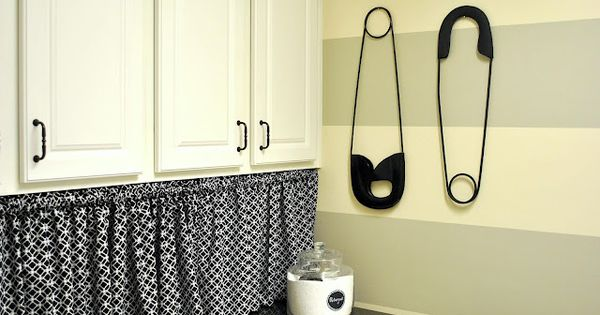 Curtain Idea To Hide Top Of Washer Dryer On Tension Rod Or Help Up Under Shelf Or Cabinet Pins