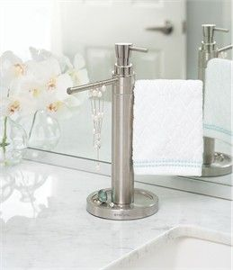 Counter Top Towel Valet Soap Dispenser Combo With Images