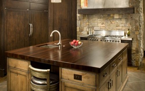I LOVE THIS!!!! Unique Wenge Wood Stain: Stunning Rustic Kitchen Wenge Wood