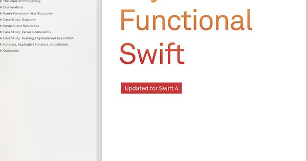 Functional Swift Learn Core Concepts Of Functional Programming With Swift And Leverage Them In Real World Code Objc Io Books World Code Learning Core