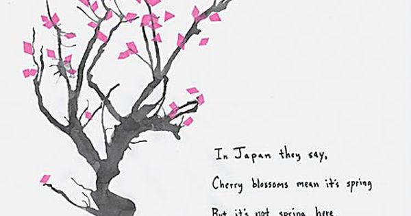 J Flowering Cherry Japanese Haiku Cherry Blossom Painting Haiku