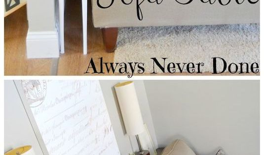20. Build a narrow sofa table to place behind your couch! Perfect