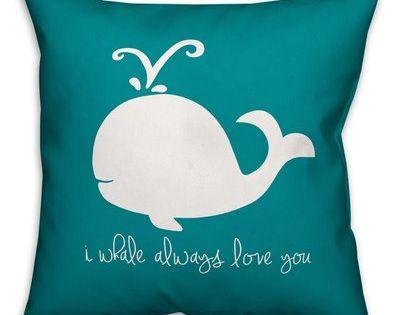 Zoomie Kids Kacie Whale Always Love Throw Pillow Throw Pillows Pillows Zoomie Kids