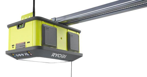 Ryobi Quiet Compact 1 1 4 Hp Belt Garage Door Opener Garage Door Opener Residential Garage Doors Garage Doors