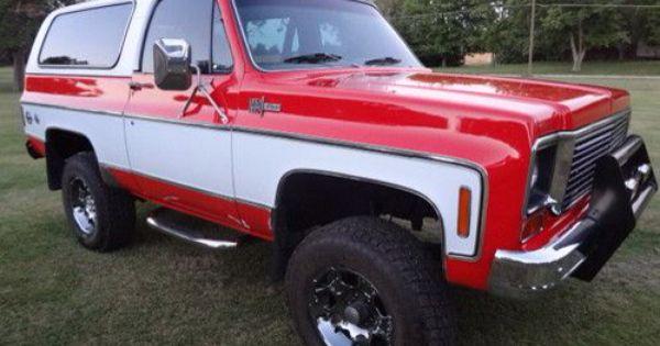 Red And White K5 Blazer Chevy Blazer K5 Classic Chevy Trucks K5 Blazer
