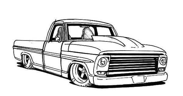 Truck-Lowrider-Cars-Coloring-Pages.jpg (600×386 ...