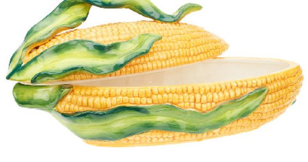 Temp tations Figural Corn Cob With 4 Plates amp Holders