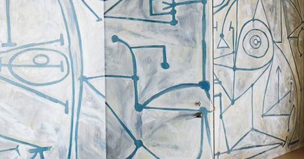 Steven harris new york apartment mural walls for Anthropologie enchanted forest mural
