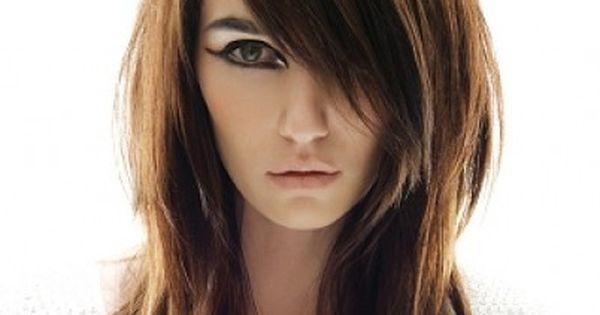 long choppy layered haircuts with side bangs 2