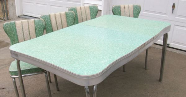 Details about 1950 39 s retro formica chrome kitchen table - Vintage formica kitchen table and chairs ...