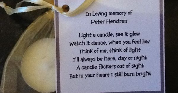 Candle Poem For Wedding Gift: 50 X Personalised Scented Candle Favors