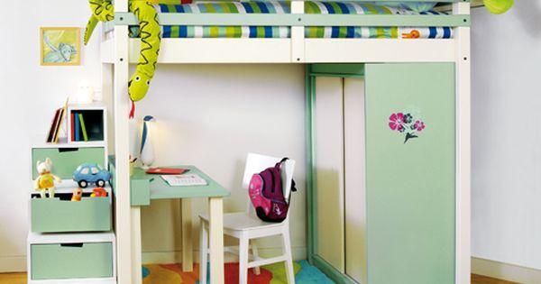 espace loggia lit mezzanine ju enfant meuble contemporain. Black Bedroom Furniture Sets. Home Design Ideas
