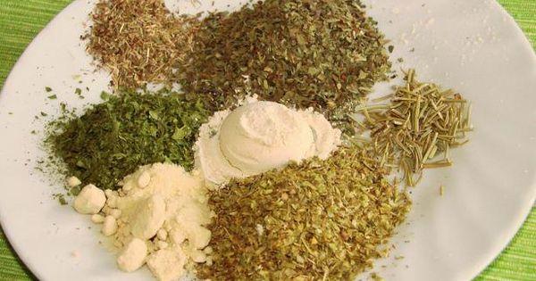 Homemade Italian Seasoning: 3 tablespoons dried basil 3 tablespoons dried oregano 3