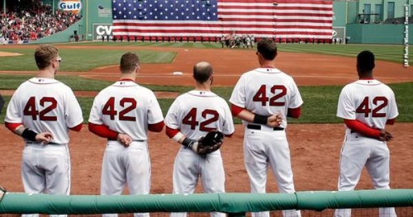 Photos Of The Day April 15 Red Sox Baseball Jackie Robinson Red Sox Nation