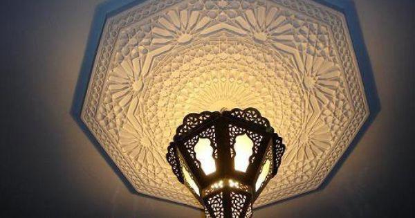 Romantique rosace de plafond en pl tre sculpt details for Rosace en platre marocain