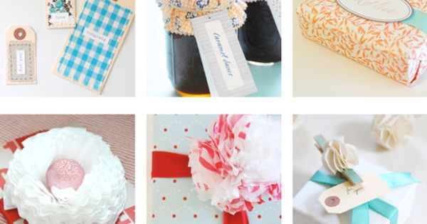 a million and two free printable gift tags and other DIY giftwrapping