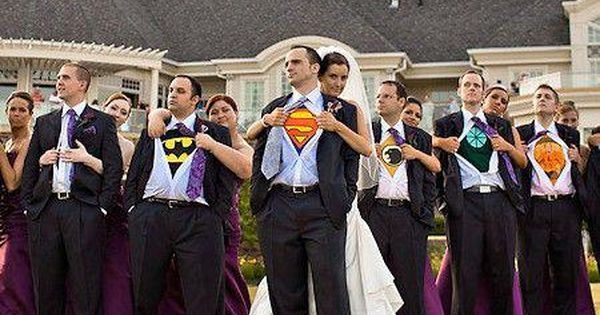 This superhero wedding party shot. 18 Wedding Ideas That Will Only Appeal