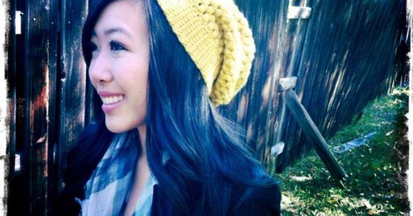 Easy crochet slouchy hat
