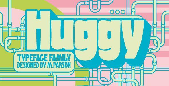 Huggy typeface – Condensed Sans-Serif