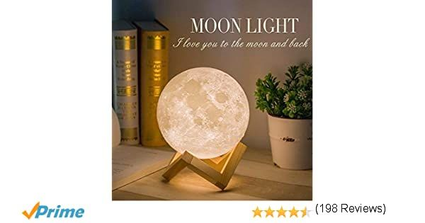 Size 3 5in With Ceramic Basethis Moon Lamp Is Delicately Crafted With The 3d Printing Technology Usb Rechargeable You C In 2020 Lamp Portable Power Source Night Light