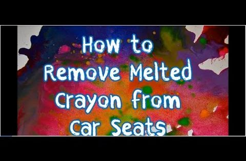 how to remove melted crayon stains from car seats all it takes to remove melted crayon stains is. Black Bedroom Furniture Sets. Home Design Ideas