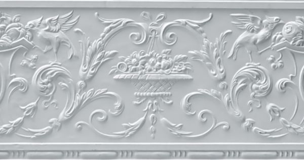 Embossed Wallpaper Border Dining Room Pinterest