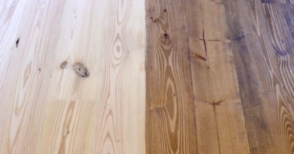 And the first coat of sutherland welles tung oil stain for Unstained hardwood floors
