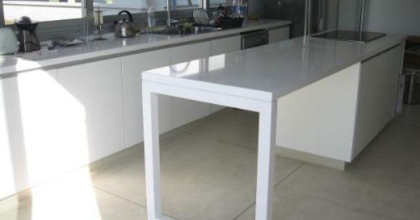 Mesada de silestone blanco zeus x metro lineal piso for Muebles de cocina x metro lineal