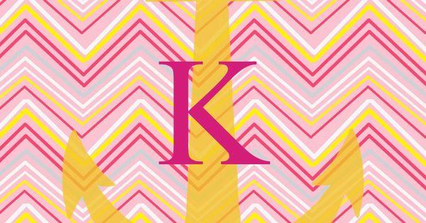 K Pink Yellow Chevron Anchor Wallpaper Looks Like Me