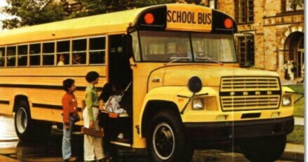 Early 80 S Vintage Wayne School Bus On A Ford Chassis With