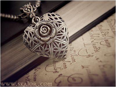gold ox jewelry snail heart locket necklace