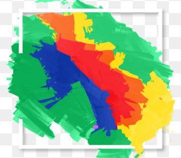 الفرشاة الملونة إطار الجرونج فرشاة الإطار إطار ملون إطار الجرونج زخرفة الفرشاة Png والمتجهات للتحميل مجانا Colorful Frames Paint Vector Paint Splash