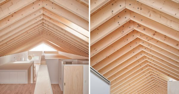 Flitch beam rafters and exposed soffit. | Situation - Apparatus - Encasement | Pinterest | Beams ...