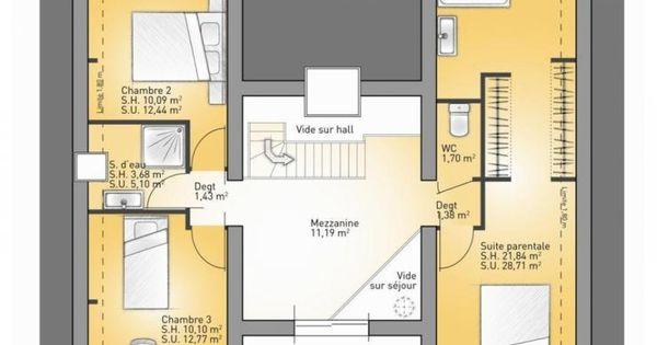 Plans de maison 1er tage du mod le concept maison - Plan maison 130 m2 etage ...